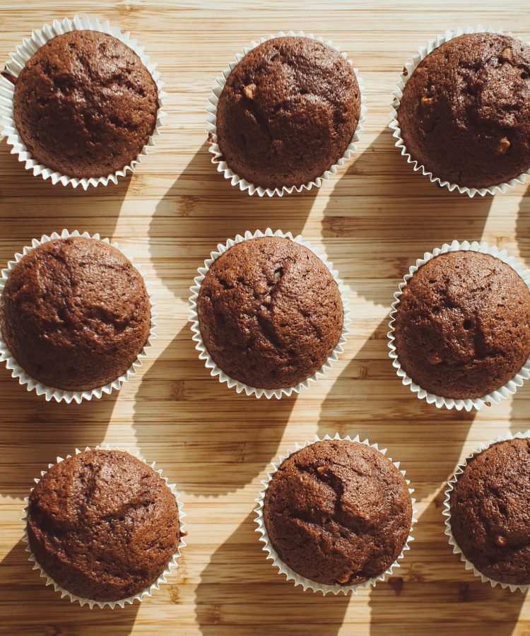 kaffe muffins med chokoladestykker
